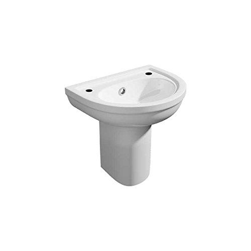 Essential-Kartell-Semi Keramik mit Becken, keramik, 550mm 1 Tap Hole Semi Pedestal Basin (Pedestal Semi)