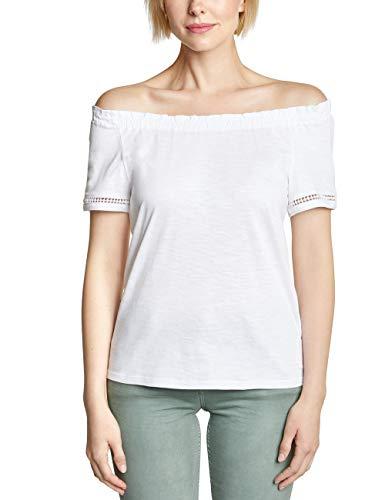 Cecil Damen 313371 T-Shirt, per Pack Weiß (White 10000), X-Large (Herstellergröße:XL) - Weißes Pack T-shirt Frauen