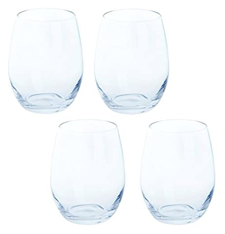 Dartington Crystal White Wine Stemless, clear, Pack of