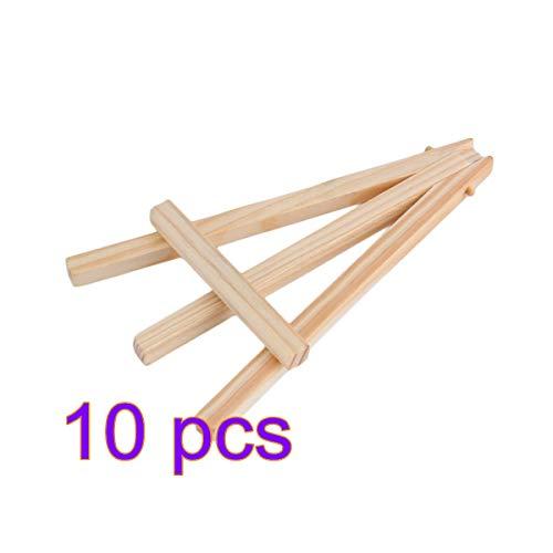 10 PC-Mini-Holz-Staffelei Hochzeit Bild Staffelei Display-Ständer Kleine Leicht für Kinder Kinder Künstler (Kinder Halloween-abendessen-ideen Für)