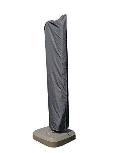 SORARA Schutzhülle für Ampelschirm (Ø 300 - Ø 350, 300 x 300, 300 x 350 cm) | Grau | Wasserabweisend Polyester & PU Coating (UV 50+)| Wettershutz | Regenfest | für Outdoor Garten Möbel