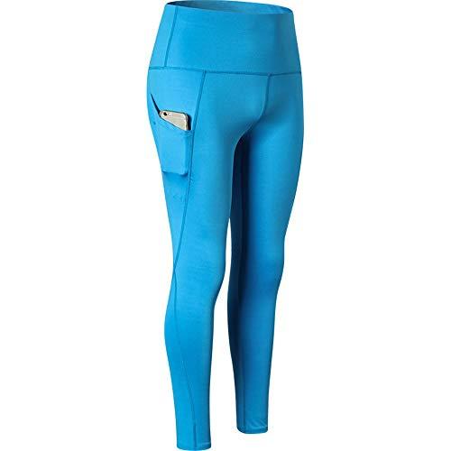 BEIXUNDIANZI Yoga Hosen Nähte Mode Frauen Leggings Hohe Taille Elastische Yoga Fitness Sporthosen Hosen Hosen Für Frauen Blau XL