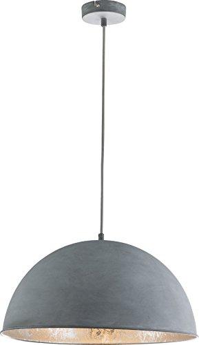 Hängelampe Vintage 1-Flammig Hängeleuchte Pendelleuchte Esszimmerlampe Stein-Optik (Industrie Pendellampe, Küchenlampe, 41 cm, Höhe 120 cm) -