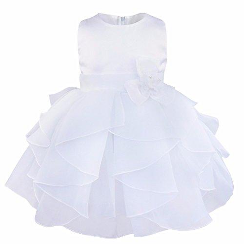 4d6c378c95 iEFiEL Vestido de Bautizo Princesa para Bebé Niña Recién Nacido (3 ...