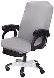 اغطية كرسي مكتب من سارافلورا قابلة للتمدد والغسل، غطاء انزلاقي لكرسي الكمبيوتر وشامل للكراسي الدوّارة، مقاس L،