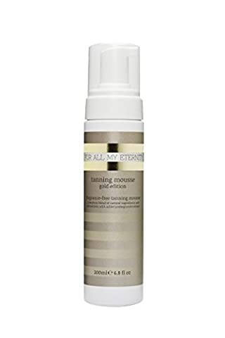 For All My Eternity Tanning Mousse Gold Edition 200ml - Luxury Fake Tan Mousse Natural Self Tan SLS-Free Sunless Tanning Foam, Fragrance-Free & Paraben-Free, Best Tan For Body Face Arms and