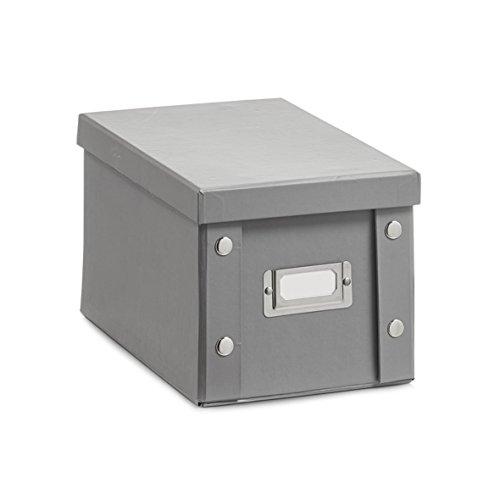 Zeller 17595 Boîte à CD 16,5x28x15cm en Papier Carton Gris, 5 x 28 x 15 cm
