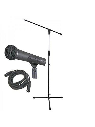 Behringer ULTRAVOICE XM8500la confezione include supporto microfono e connettore XLR