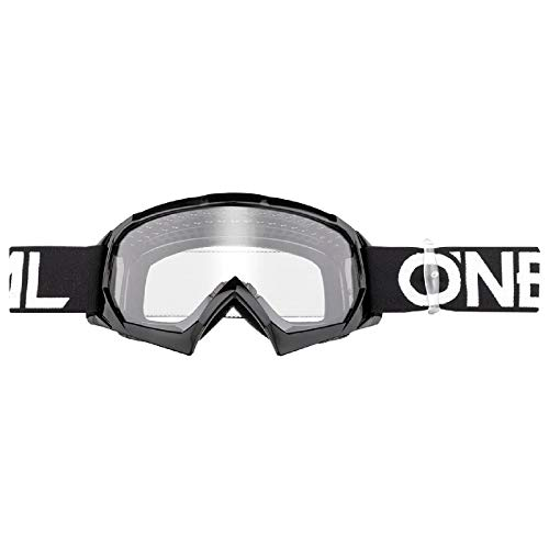 O'Neal B10 Solid Youth Kinder Goggle MX DH Brille schwarz/klar Oneal