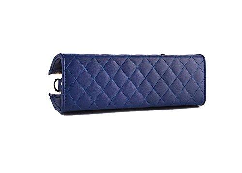 DcSpring Borse a Mano in PU Pelle Cute Borsa a Tracolla Elegante Grande Capacità Spalla Elegante Sacchetto per Donna Blu