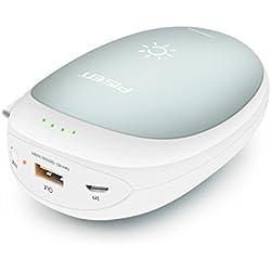 PISEN Chauffe-Mains 7500mAh Batterie Externe USB Poche 2-en-1 Chargeur Portable Rechargeable pour iPhone iPad Samsung Nexus etc Chaufferette Électrique pour Ski Randonnée Camping Cadeaux etc