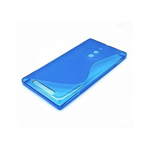 Lumia 830 Hülle, Ordica DE®, Microsoft Lumia 830 Case [S Line Case] Dünn Blau Back Cover Silikon Ultra Slim
