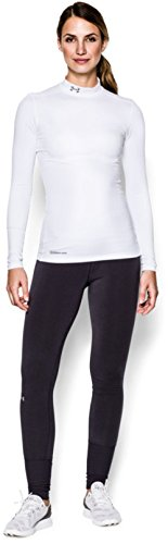 Under Armour UA Coldgear Authentics Mock, Maglione Donna Bianco
