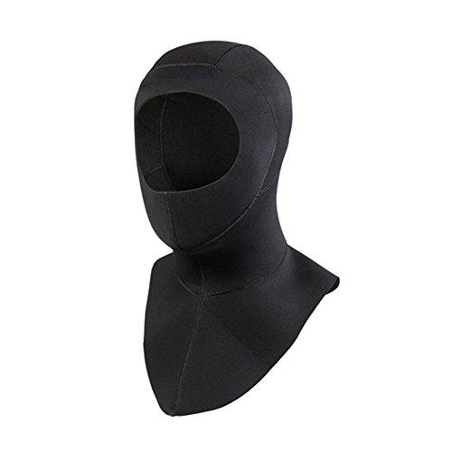 Meijunter Neopren 3mm Scuba Tauchen Kappe Schnorcheln Hals Abdeckung Surfen Taucher Hut Haube Neoprenanzug Color Black(57-59cm)