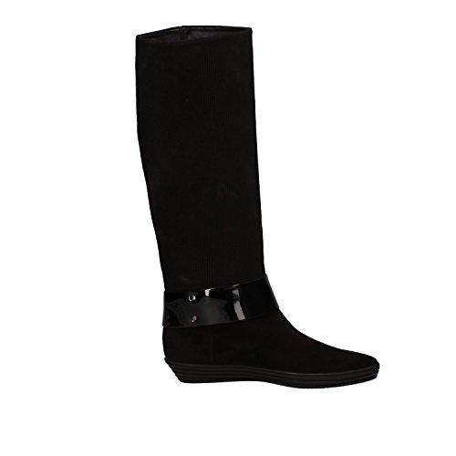 HOGAN stivali donna nero / marrone nero camoscio vernice Marrone/Nero