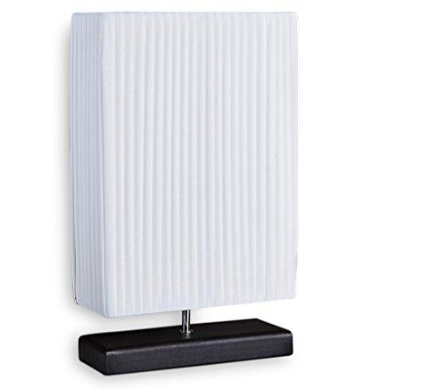 40w Nacht Licht (Nacht-Tischlampe Lampe weiß Latex - Leuchte Beleuchtung Licht schwarzer Fuß 30x50x10cm)