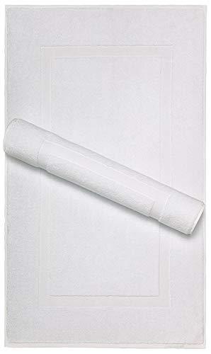 Luxuriöse Handtücher Super saugfähig und extra weich für den täglichen Gebrauch durch American Bath Towels, Baumwolle, Cotton White, Banded Bath Mat (Dental Dream)