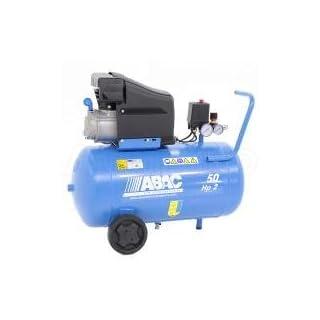Abac Montecarlo L20 Lubricated Piston Compressor 50 L 10 Bar 2HP 13.2 m3/h