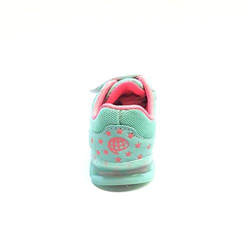 Gezer Kinder Blinkschuhe Sneaker Freizeitschuhe Gr. 22-25 Neu Grün-Mint