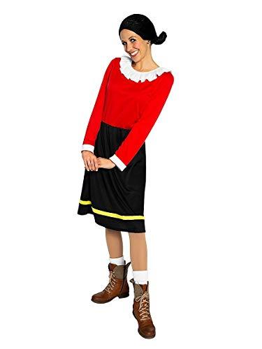 Kostüm Popeye Paar - Maskworld Olivia Öl - die Freundin von Popeye - Kostüm für Erwachsene - einteilig - Karneval (M)