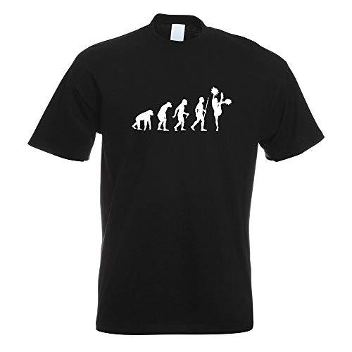 Cheerleader Herren T-shirt (Kiwistar Cheerleader Evolution T-Shirt Motiv Bedruckt Funshirt Design Print)
