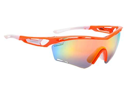 Anyeda Sportbrille Fahrradbrille Unisex TPU+PC Brille Spy Goggle Orange