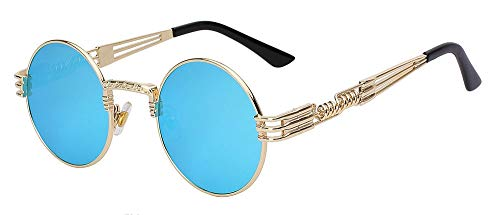 Onizah - Sonnenbrille Männer Frauen Metall WrapEyeglasses Round Shades Marke Designer-Sonnenbrillen...