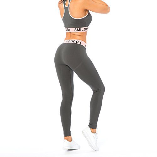 Smilodox Damen Seamless Leggings Precious, Farbe:Anthrazit, Größe:XS - 5