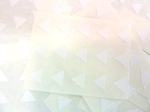 150 ETIQUETAS, 10mm triángulo, blanco, código de color PEGATINAS, autoadhesivo Adhesivo de color Etiquetas