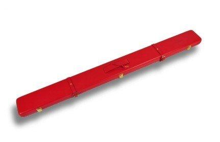 Echtes Leder, handgefertigt, Rot-Koffer für 3/4-geteilte Snooker-Queues und Verlängerung