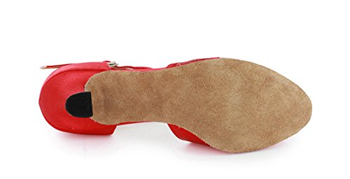 Minitoo Dance Collection 601801Scarpe da ballo, da donna, con tacco basso, per danze caraibiche Red