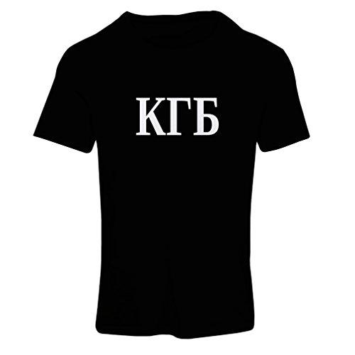 Frauen T-Shirt Politisch - KGB, UdSSR - CCCP, Russisch, Русский (Large Schwarz Weiß) (Eiche-ball)
