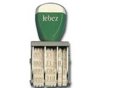 Lebez - Timbro datario 5mm num 1