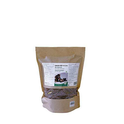 Emiko PetCare Bio Bokashi 500 g, suplemento de alimento con ácido láctico y valiosos Productos de plástico EM, para Perros y Gatos