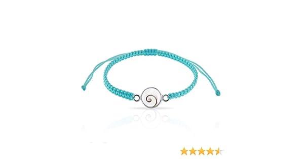 Bracelet Cordon Elastique Oeil de Sainte Lucie Argent 925//1000 Planetys