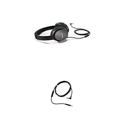 Bose  QuietComfort 25 Acoustic Noise Cancelling Kopfhörer (geeignet für Apple-Geräte) schwarz + QuietComfort 25 Kopfhörer-Kabel mit Inline-Mikrofon und Fernbedienungfür Samsung/Android Gerät schwarz thumbnail