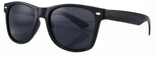 Nerd Sonnenbrille Retro Vintage Style Stil Design Unisex Brille, Frame Schwarz, Glazen Schwarz