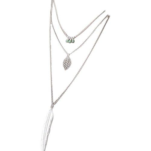 sunnywill-frauen-mehrschichtigen-unregelmassige-anhanger-kette-halskette-silber