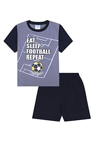 Jungen Essen Schlaf Fußball wiederholen Kurze Baumwoll Schlafanzug (13 Jahre (164cm))