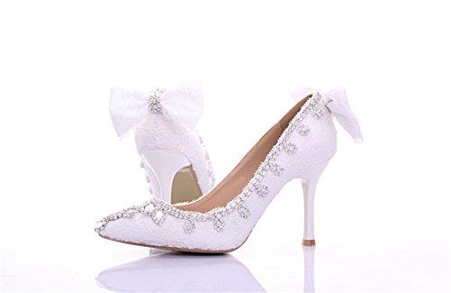 Miyoopark , Sandales Compensées femme White-9cm Heel