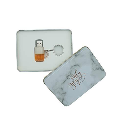 Usb flash drive luckcrazy 16gb chiavetta usb memory disk tazza di birra memoria usb pendrive beer cup