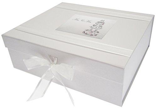 White Cotton Cards Erinnerungsschachtel für Hochzeitstorte, Motiv