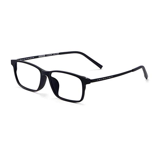JLBao Reintitan-Rahmen Ultra-klare Lesebrille, asphärische Harzlinse Anti-blau Tr90 Brillenbeine Mosaik Scharniere Anti-blau Lesebrille,Black,+2.5 -