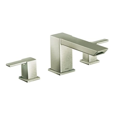 Moen ts903bn 90Degree Two-Handle High Arc Roman Tub Faucet, nickel brossé by Moen
