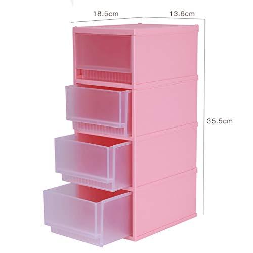 KKY-ENTER Boîte de rangement cosmétique en plastique transparent Bureau Type de tiroir multicouche Rouge à lèvres Bijoux Produits de soin de la peau Boîte de stockage Affichage