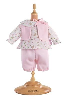 Corolle W9021 - Conjunto de pantalón y camisa para muñeca de 30 cm, color rosa de COROLLE