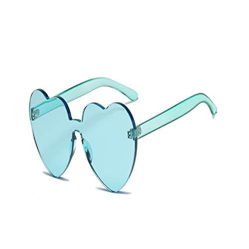 Sportbrillen, Angeln Golfbrille,New Rimless Vintage Round Mirror Sunglasses Women Luxury Brand Original Designer Fashion Sun Glasses Female Gafas Oculos De Sol Green