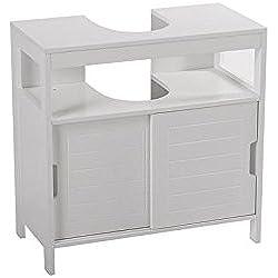 INSTANT D O Meuble sous lavabo Aqua - 30 x 60 cm - Blanc
