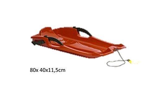 Kunststoffrodel 80x 40x11,5cm Farbe Orange