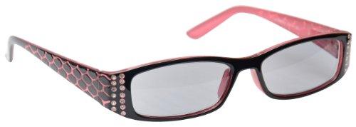 UV Reader Sonnen Lesebrille UV400 Rosa +3.00 Dioptrien Designer Stil Frauen Damen UVSR001 mit Etui
